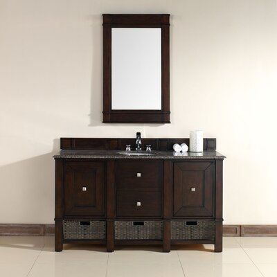 Bancroft 60 Single Vanity Base Finish: Mahogany