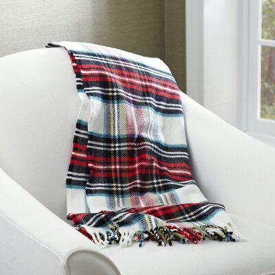 Mila Tartan Throw Color: Cream