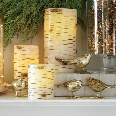Gold Resin Bird Decor