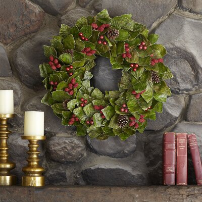 Preserved Hollyberry Wreath