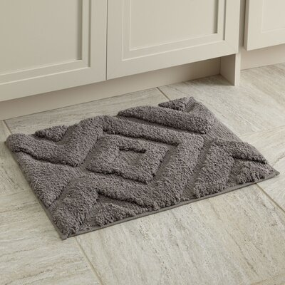 Alicia Bath Mat Color: Light Gray, Size: 21 x 34