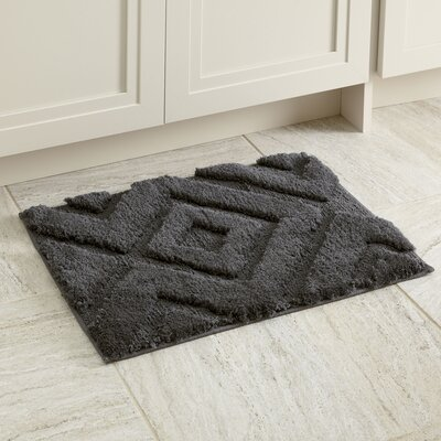 Alicia Bath Mat Size: 17 x 24, Color: Gray