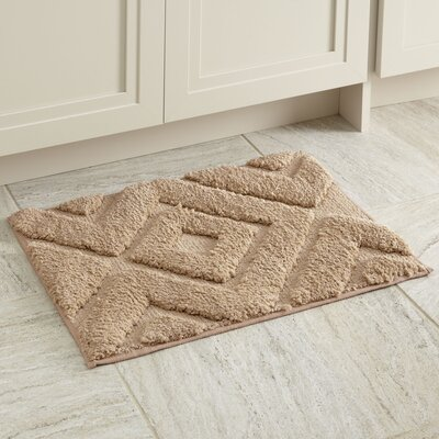 Alicia Bath Mat Size: 21 x 34, Color: Taupe