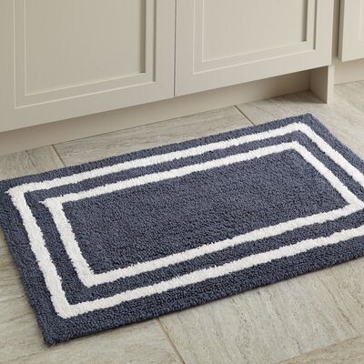 Corey Bath Mat Color: Navy