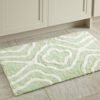 Maureen Bath Mat Color: Green