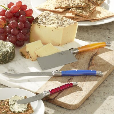 Alsace 3-Piece Laguiole Cheese Serving Set