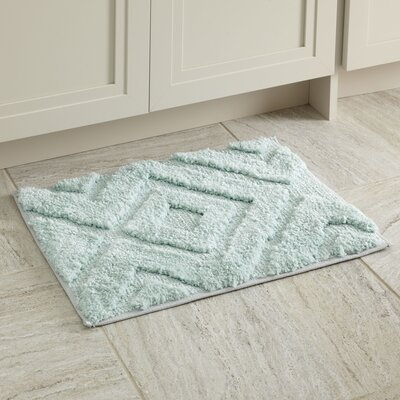 Alicia Bath Mat Size: 21 x 34, Color: Aqua