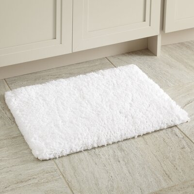 Linda Bath Mat Size: 17 x 24, Color: Snow White