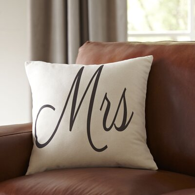 Mrs. Pillow Cover