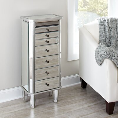 Silva Mirrored Jewelry Armoire