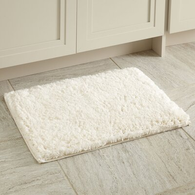 Linda Bath Mat Size: 17 x 24, Color: Cream