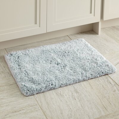 Linda Bath Mat Size: 17 x 24, Color: Denim