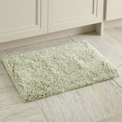 Linda Bath Mat Size: 17 x 24, Color: Green Tea