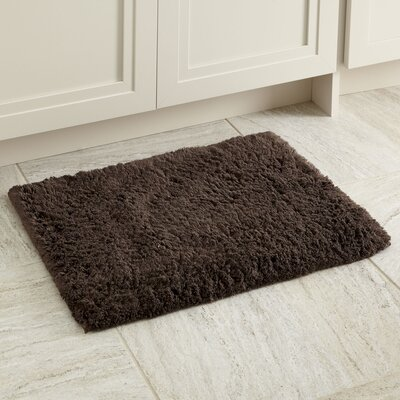 Linda Bath Mat Size: 17 x 24, Color: Chocolate