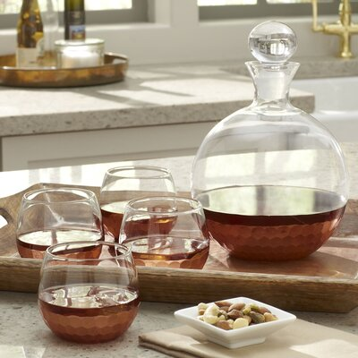 Chauncey 5-Piece Round Decanter Set