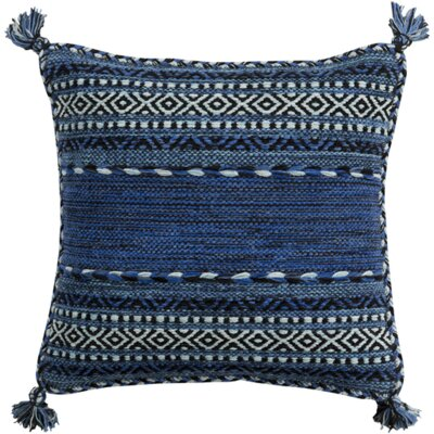 Fogarty Pillow Cover Color: Blue, Size: 18