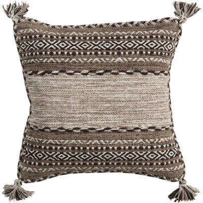 Fogarty Pillow Cover Size: 18, Color: Tan