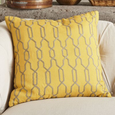 Hayley Decorative Linen Pillow Cover Size: 22 H x 22 W x 1 D, Color: Canary