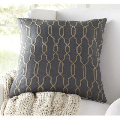 Hayley Decorative Linen Pillow Cover Size: 18 H x 18 W x 1 D, Color: Slate