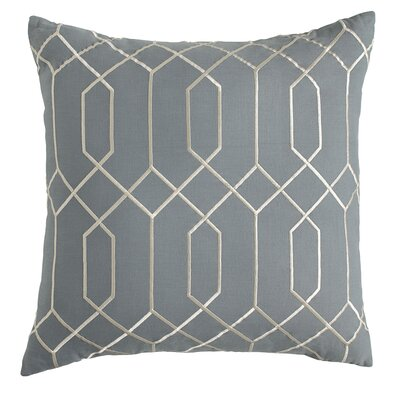 Janice Linen Pillow Cover Size: 18 H x 18 W x 1 D, Color: Storm Blue