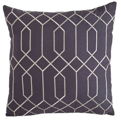 Janice Linen Pillow Cover Size: 18 H x 18 W x 1 D, Color: Midnight