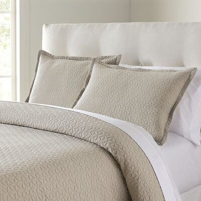 Marielle Quilt Set Color: Taupe, Size: King