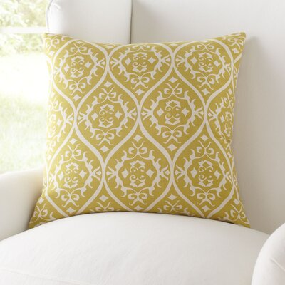 Daisy Pillow Cover Size: 22 H x 22 W x 1 D, Color: Gold & Light Gray
