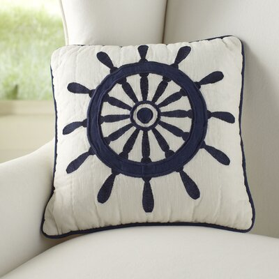 Ship's Wheel Quilt Cotton Throw Pillow