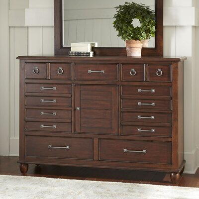 Reeves Combo Dresser Color: Cherry