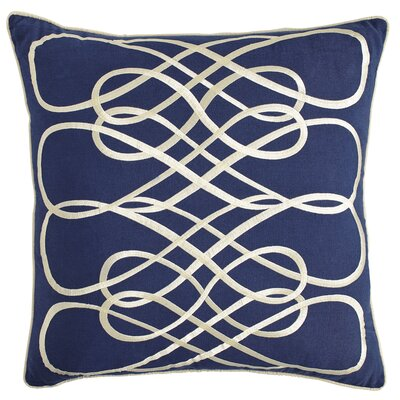 Kristen Pillow Cover Size: 18 H x 18 W x 1 D, Color: Navy