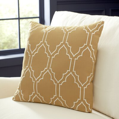 Lacey Linen Pillow Cover Size: 18 H x 18 W x 1 D, Color: Butter