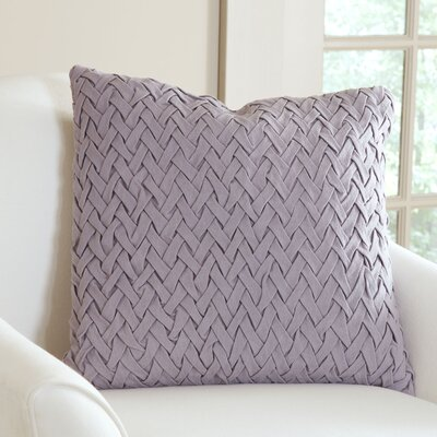 Lane Pillow Cover Size: 18 H x 18 W x 1 D, Color: Ash Violet