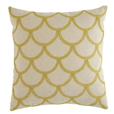 Sabrina Pillow Cover Size: 22 H x 22 W x 1 D, Color: Buttercup