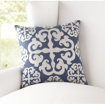 Opal 100% Cotton Pillow Cover Size: 22 H x 22 W x 1 D, Color: Teal & Ivory