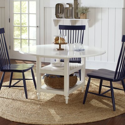 Burke Drop-Leaf Dining Table Finish: White