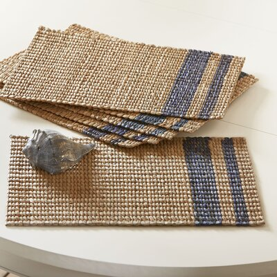 Tennile Woven Placemats (Set of 6) Color: Navy