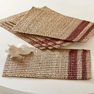 Tennile Woven Placemats (Set of 6) Color: Red