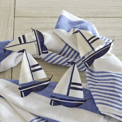 Sailboat Napkin Rings (Set of 6)