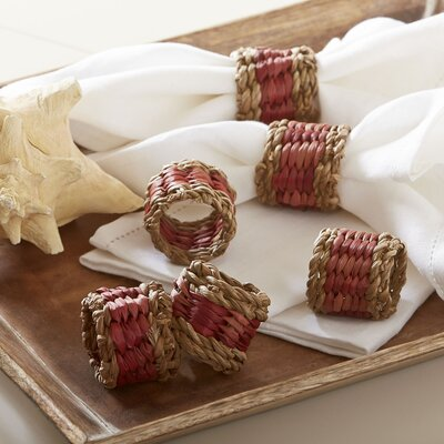 Tennille Woven Napkin Rings (Set of 6) Color: Red