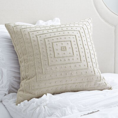 Liv Beaded Pillow Cover Size: 22 H x 22 W x 1 D