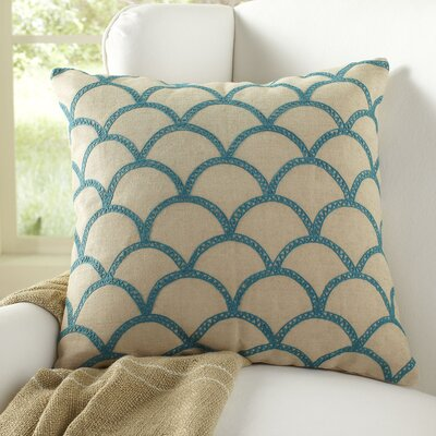 Sabrina Pillow Cover Size: 18 H x 18 W x 1 D, Color: Teal