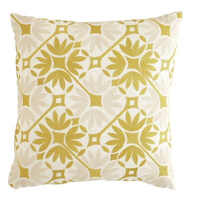 Kochi Cotton Pillow Cover Size: 18 H x 18 W, Color: Parchment