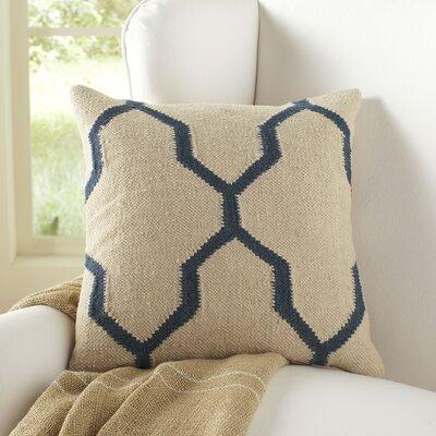 Becca Decorative Pillow Cover Color: Parchment/Blue