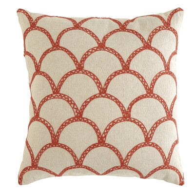 Sabrina Pillow Cover Size: 18 H x 18 W x 1 D, Color: Poppy