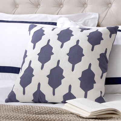 Tripoli Pillow Cover Color: Navy, Size: 22 H x 22 W x 1 D