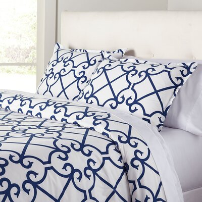 Selena Navy Duvet Set Size: Full/Queen