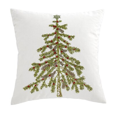 Evergreen Embroidered Pillow Cover