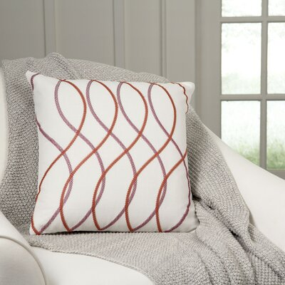 Adona Embroidered Pillow Cover Color: Red