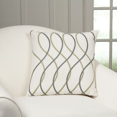 Adona Embroidered Pillow Cover Color: Blue