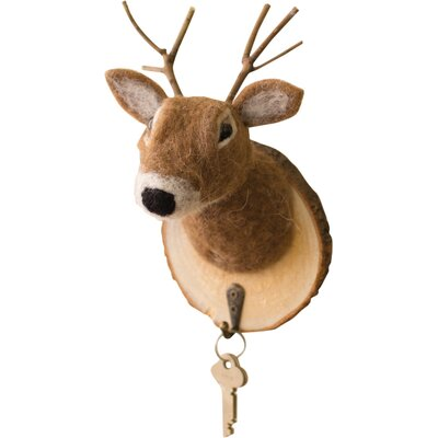 Felted Deer Wall Hook